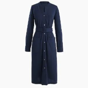 J Crew Long-sleeve belted shirt dress